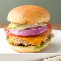 apple maple bacon turkey burger